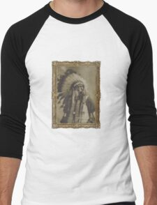 Indian Gas Mask Men's Baseball ¾ T-Shirt
