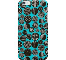Black on blue iPhone Case/Skin
