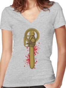 Hand of the King, baby! Women's Fitted V-Neck T-Shirt