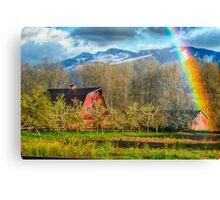 Springtime Rain Squall Rainbow  Canvas Print