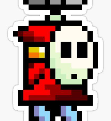 Shy Guy flying Super Mario Sticker