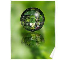 Green Flower Ball Poster