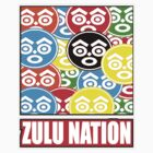 ZULU NATION: MULTI-COLOR LOGO DUECE by S DOT SLAUGHTER