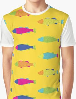 Fishes in Yellow Graphic T-Shirt