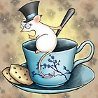 Tea Cup Mouse in Tophat by CatAstrophe