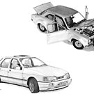 Ford Special RS Escort 1600 Mk 1and RS Cosworth Sierra Sapphire by Steve Pearcy