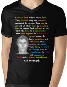 Cowards Hide Behind Their Fear Mens V-Neck T-Shirt