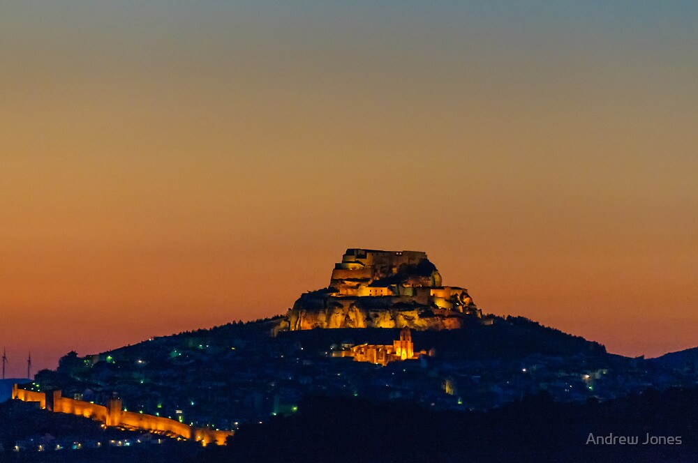 Morella at night, Castellon, Spain by Andrew Jones
