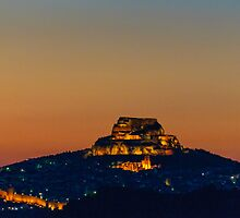 Morella at night, Castellon, Spain by Andrew Jones