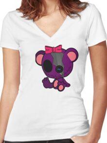 Sassy Secrete Bear Women's Fitted V-Neck T-Shirt