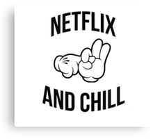 Netflix and chill - hands Canvas Print