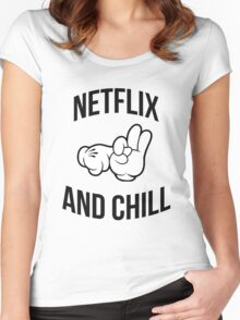 Netflix and chill - hands Women's Fitted Scoop T-Shirt