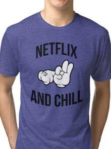 Netflix and chill - hands Tri-blend T-Shirt