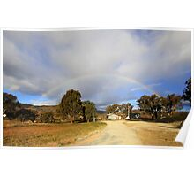 Blessed By  A Rainbow,  Rural NSW  Australia  Poster