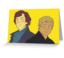 Sherlock Holmes & John Watson Greeting Card