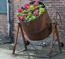 Ladle for molten metal converted into a home for Flowers. by albutross
