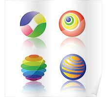 color spheres Poster