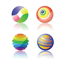 color spheres Photographic Print