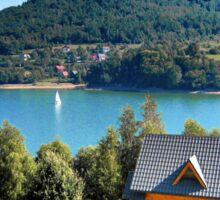Summer on the lake Sticker