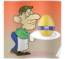 waiter and easter egg Poster