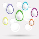 easter eggs paper  background by valeo5