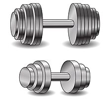 two dumbbells Photographic Print