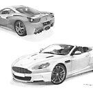 Ferrari 458 Italia & Aston Martin DBS volante (Supercar Special) by Steve Pearcy
