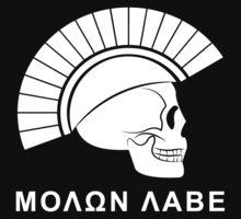 Molon Labe Skull by 5thcolumn