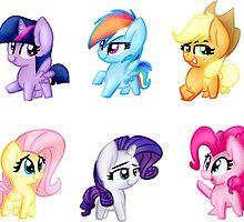 Mane 6 Cuties by LBRCloud