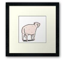Pig 2 Framed Print