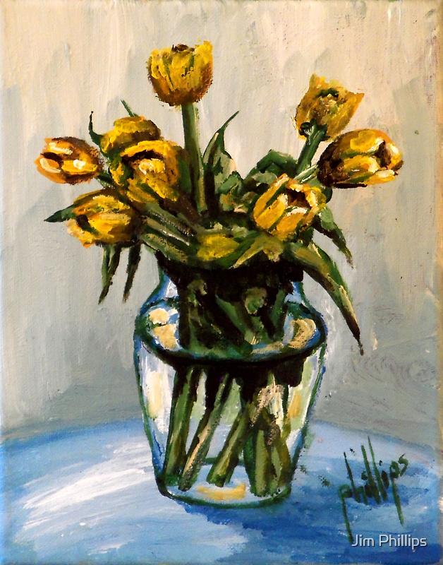 Yellow Tulips by Jim Phillips