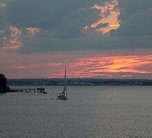 Sunset on Narragansett Bay by reendan