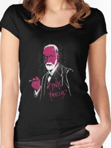 pink freud Women's Fitted Scoop T-Shirt