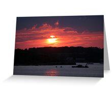Sunset on Narragansett Bay 2 Greeting Card