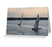 Sunset on Narragansett Bay 3 Greeting Card