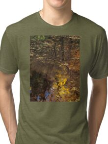 Late Autumn Reflections on Pond Tri-blend T-Shirt