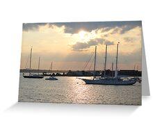 Sunset on Narragansett Bay 5 Greeting Card
