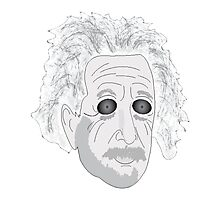 Trippy Einstein Photographic Print