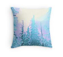 Forzen Forest Throw Pillow