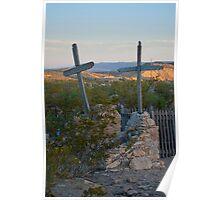 Terlingua Cemetery Easter Sunset Poster