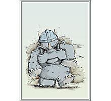 Rumblin' Rhino has a bad Day Photographic Print