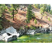 Chunky Rocks in a Green River Photographic Print