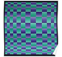 Vague Blur - Violet / Green Poster