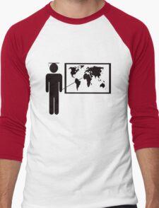 Geography teacher Men's Baseball ¾ T-Shirt