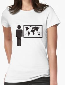 Geography teacher Womens Fitted T-Shirt