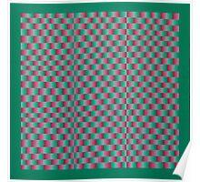 Vague Blur (Red/Green) Poster