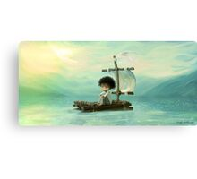 floating on a raft Canvas Print
