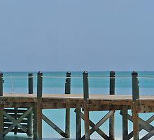 Turks and Caicos Beach Pier by studio20seven