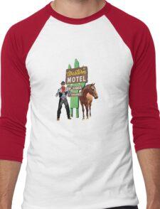 western motel Men's Baseball ¾ T-Shirt