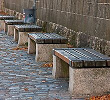 Benches on the Quai by phil decocco
